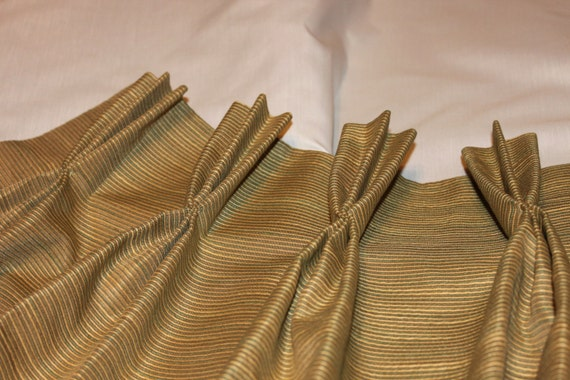 Double Panel Pinch Pleated Drapes Fully Lined Using
