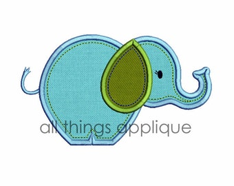 Baby Elephant Applique Design (#630) - 4 Sizes Included - INSTANT DOWNLOAD