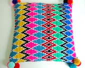 modern pillow cover crochet Ethnic pattern