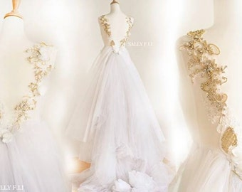 Dianna -Gold collection Romantic Wedding Dress / Diamond /  /Sally F.Li