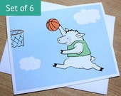 Basketball Cards - Sheep Blank Card Set (Set of 6)