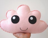 Pale Pink Cloud Softie - Cloud Pillow - Kawaii Cloud - Felt Soft Toy, Baby Girl Gift, New Baby, Shower Gift