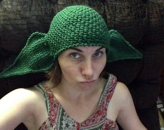 "22"" Yoda Inspired Ears Hat Green Halloween Geekery Cosplay Comic Con Costume Star Wars Adult Women Men Children Girls Boys MADE TO ORDER"