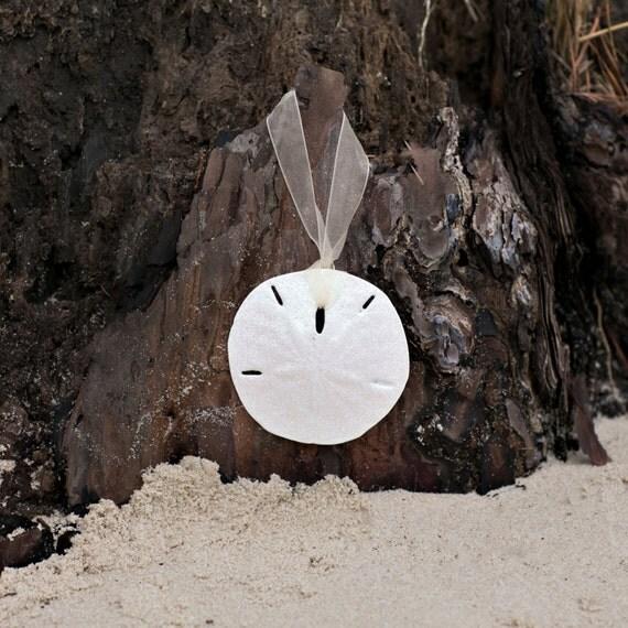 Sand Dollar Holiday Ornament - Beach Christmas Decor