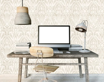 Removable Wallpaper- Organic Tonal - Peel & Stick Self Adhesive Fabric Temporary Wallpaper-Repositionable-Reusable- FAST. EASY.