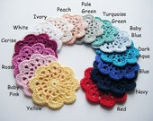 Crochet Coasters 4 or 6 or 8 - Choose Your Colours and Quantity