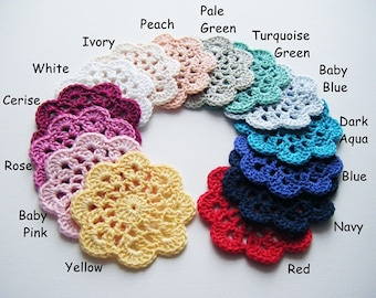 Crochet Coasters - Choose Your Colours and Quantity