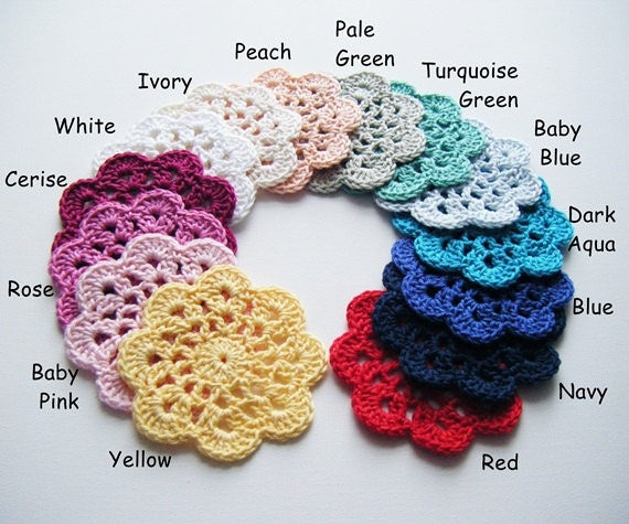 Crochet Coasters - Choose Your Own Colours and Quantity