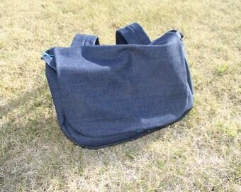 Denim Diaper Bag Backpack