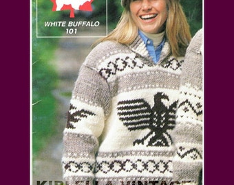 Cowichan Sweater - White Buffalo Wool KNITTING Pattern  Standing Eagle Pullover Knitting Pattern On Etsy  Instant Download
