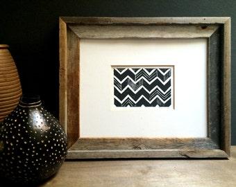 Geometric Print - Modern Chevron Pattern - Linocut Block Print - Original or Digital Print