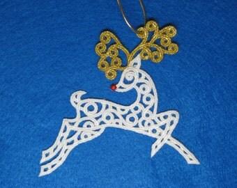 Reindeer Ornament or Gift Embellishment - Filligree