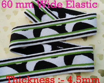 60 mm ( 2 Inch )  wide waist stretch waistband elastic for belt craft sewing  x 2 Meter-Design Thickness 4.5mm