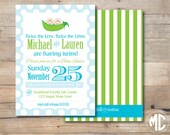 CUSTOMIZABLE INVITATION - Two Peas in a Pod Collection - Mirabelle Creations