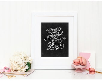 """Greatest Love Chalkboard Art - """"But the Greatest of These Is Love"""" - Mirabelle Creations"""