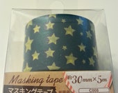 washi tape / deco tape / removable tape / masking tape / stars / width30mm x Long5m