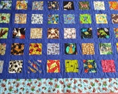 I Spy Quilt, Custom Twin Quilt, Personalized I Spy Quilt, Handmade Twin Quilt, Child's Birthday Gift, Educational Quilt