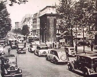 Handsome Vintage Paris Street Scene Postcard-Portes St.-Martin et St. Denis