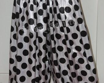 Black and white polka dots Harem Pants belly dance harem pants bloomers pantsloons tribal renaissance