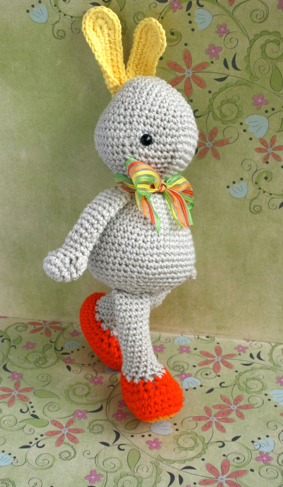 Crochet pattern Easter bunny amigurumi doll 206 by LuzPatterns
