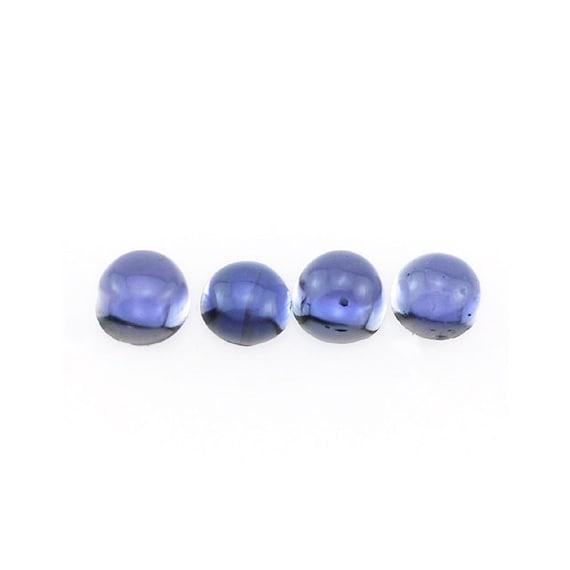 tanzanite blue iolite gemstone cabochon by