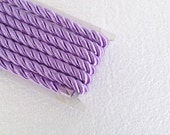 Twisted cord, 1.1 yard lilac , 10 mm satin twist cord, twisted , Wrapped Thread Cord, Decoration,Fabric Rope Trim Accent for Crafting