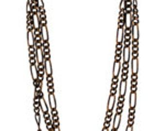 Vintaj 2mm Figaro Chain - 18 inches