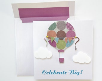"Kids Birthday Greeting Card: ""Up"""