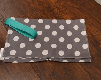 Travel Diaper and Wipes Clutch- made to order