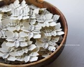 100 wedding petals . origami flowers . wedding flowers . table decorations . party favors . wedding favors . paper flowers -book page