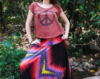 Thai Harem Pants in Cotton, Hippy Style Electric Colours-- Aladdin Pants -- Women's Harem Pants -- Drop Crotch Style