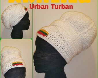AKHLILU Urban Turban - Crocheted Head-wrap - Made To Order - Wrapping Tutorial also provided (Link is Below)