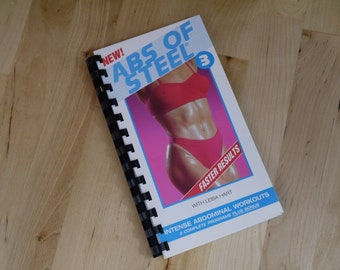 Handmade Abs of Steel 1994 Workout Exercise Video Re-purposed VHS Cover Notebook Journal