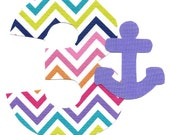 DIY iron on number applique pick any number plus light purple anchor - birthday, anytime