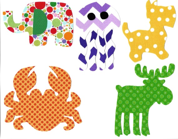 Iron on baby fabric appliques gender neutral for baby shower for Unisex baby fabric