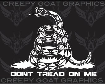 Don't  Tread on Me Snake  - Sticker By Creepy Goat Graphics