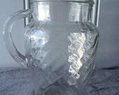 Vintage Swirl Glass Pitcher