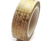 Gold Metallic Triangle Washi Tape by Love My Tapes, 15mm x 10m