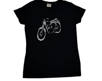 Vintage Motorcycle T-Shirt Screen Printed Women's S M L XL 2XL
