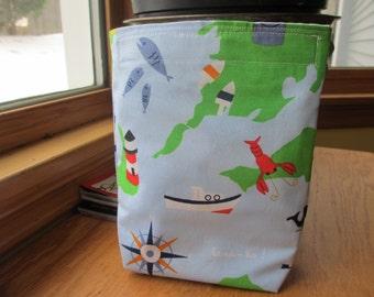 Reusable Snack Sack with Velcro Closure: Ahoy Mateys!