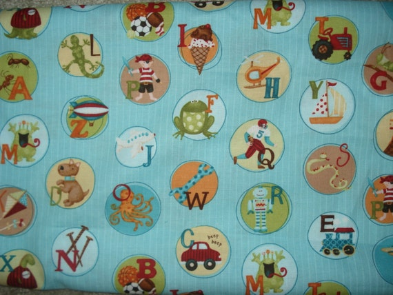 Little boy alphabet fabric destash for Little boy fabric