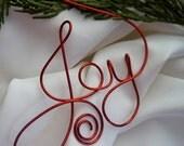 Joy Tree Ornament, Christmas Decor, Wall Or Tree