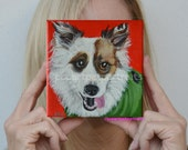 Personalized pet portrait custom dog portrait custom pet portrait custom dog painting dog painting custom pet painting modern pet portrait