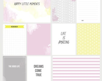 Digital Project Life Cards -  Sweety Set