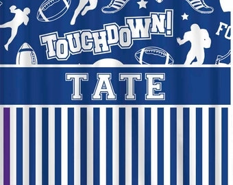 Custom Football Shower Curtain Personalized - Any Color