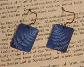 Cyanotype earrings Anna Atkins  jewelry mixed media jewelry