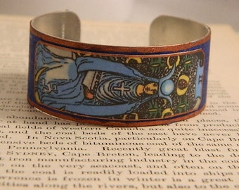 Tarot bracelet tarot jewelry The High Priestess tarot mixed media jewelry