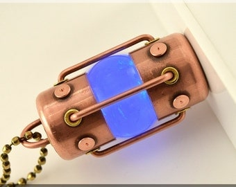 8/16/32/64/128GB BLUE Arc Quartz crystal usb flash drive. Steampunk !!! FREE shipping !!!