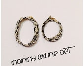 Mommy and Me Braided Wrap Bracelet- in black