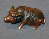 Bronze Pig Figurine Statue Sculpture Swine Art Limited Edition Signed Numbered